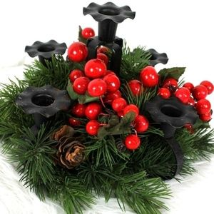 Christmas Centerpiece Candle Holder Arrangement